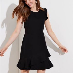 LOFT   Tiered Ruffle Dress